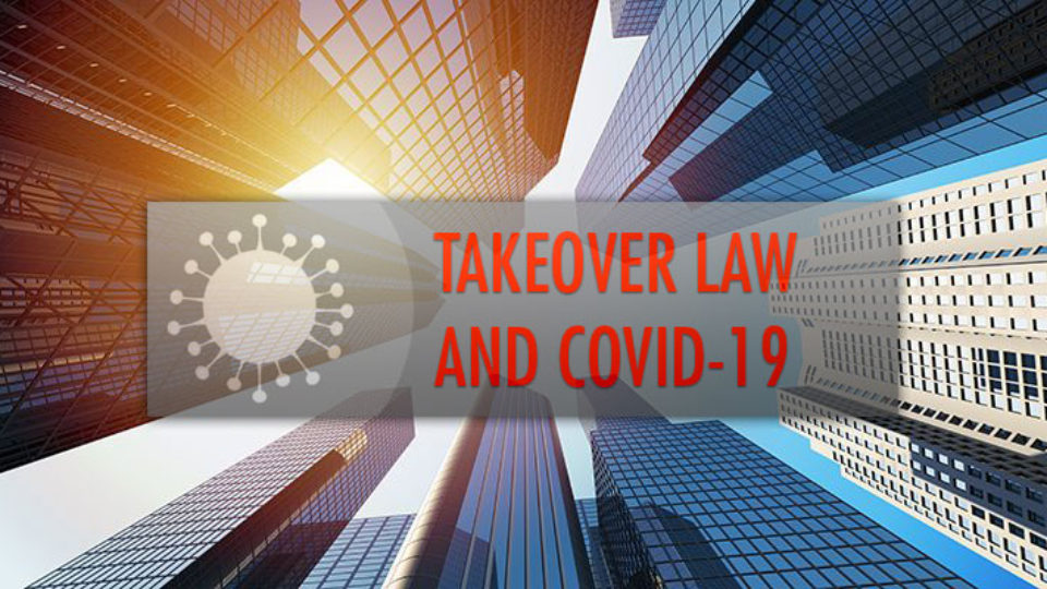 takeover law and covid-19